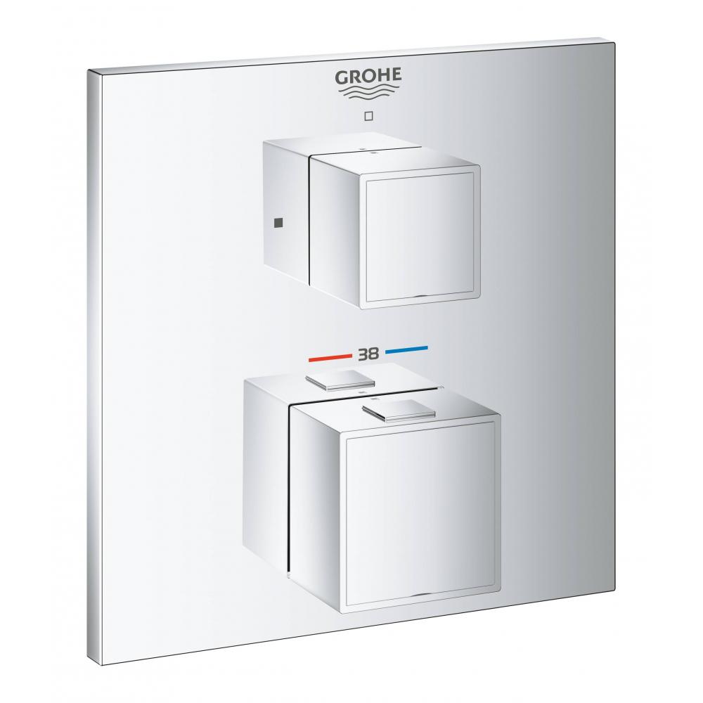Термостат для душа grohe grohtherm cube квадратная розетка, комплект верхней монтажной части 24153000