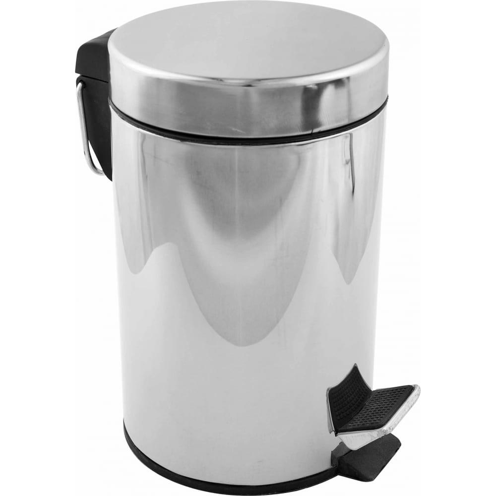 Купить Ведро для мусора fora с педалью хром, 5л h102
