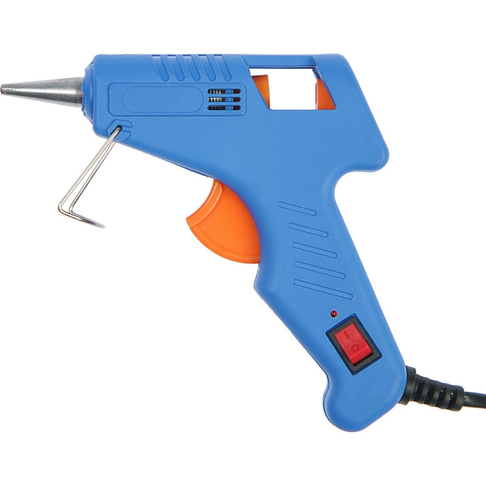 Купить Клеевой пистолет tundra 20 вт, 220 в, выключатель, индикатор, длинное сопло, 7 мм 1026054