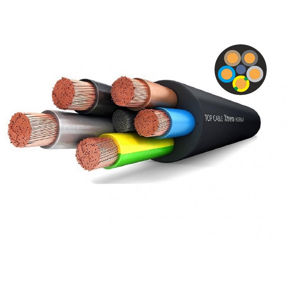 Купить Силовой гибкий кабель h07rn-f 5х4 top cable xtrem 20 метров 3005004r20ru