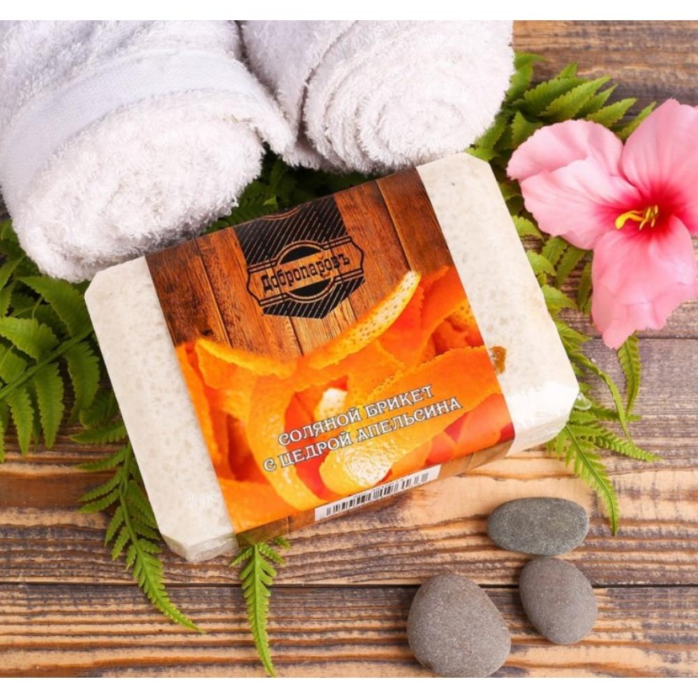 Купить Соляной брикет с цедрой апельсина добропаровъ 1.35 кг 3519613