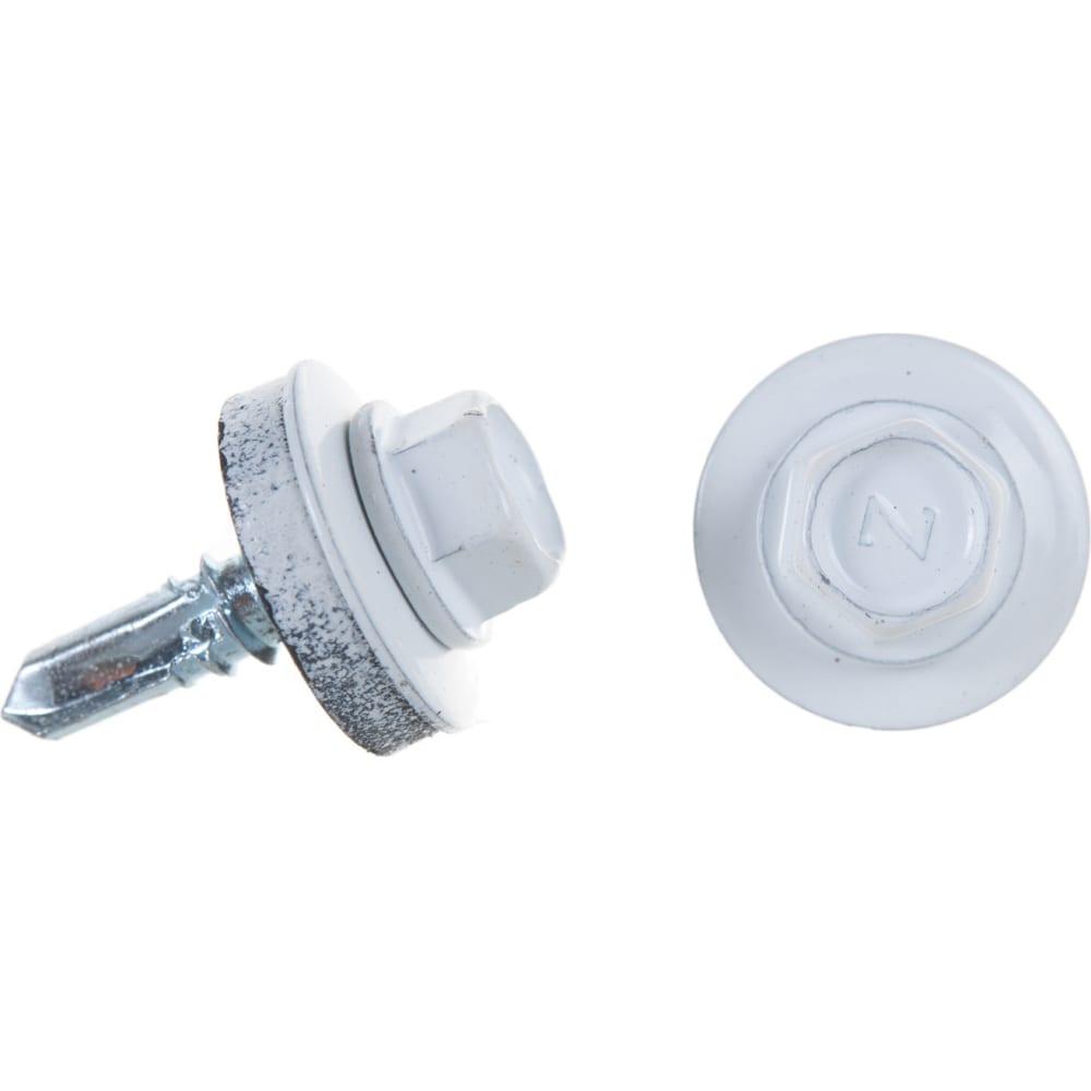 Купить Кровельный саморез госкреп 5.5х19 ral 9003, белый, 70 шт., пластиковый контейнер, 280 мл 2-0018290