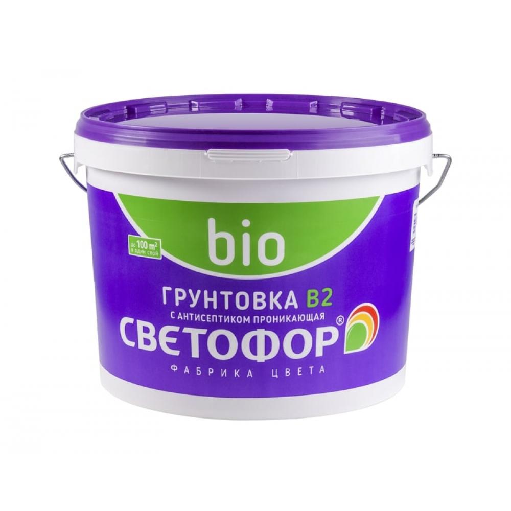 Концентрированная грунтовка с антисептиком светофор b2 3кг зор00009188