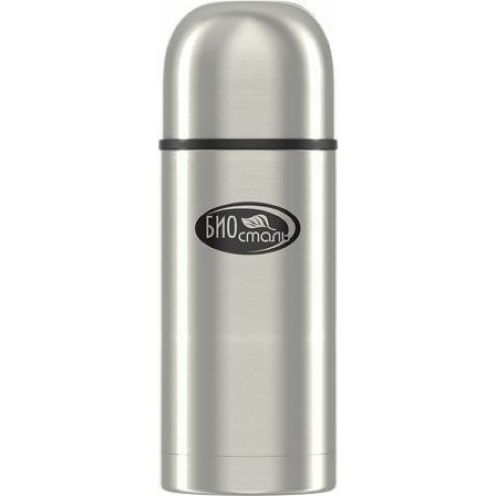 Термос biostal охота 0.5 литра, 2 чашки, с ситечком, стальной nbp-500z