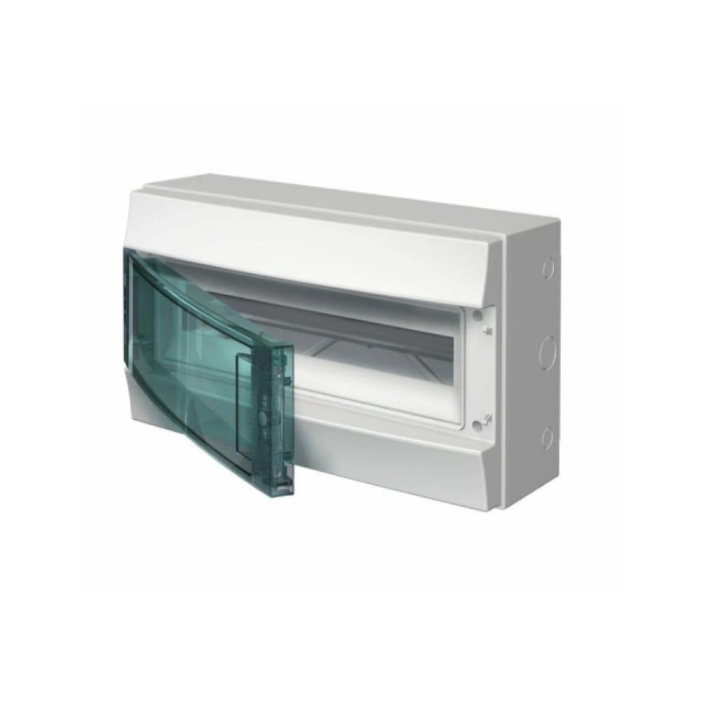 Навесной распределительный щит abb mistral65 щрн-п-18, пластиковый прозрачная дверь, ip65, серый, без клемм 1sl1203a00
