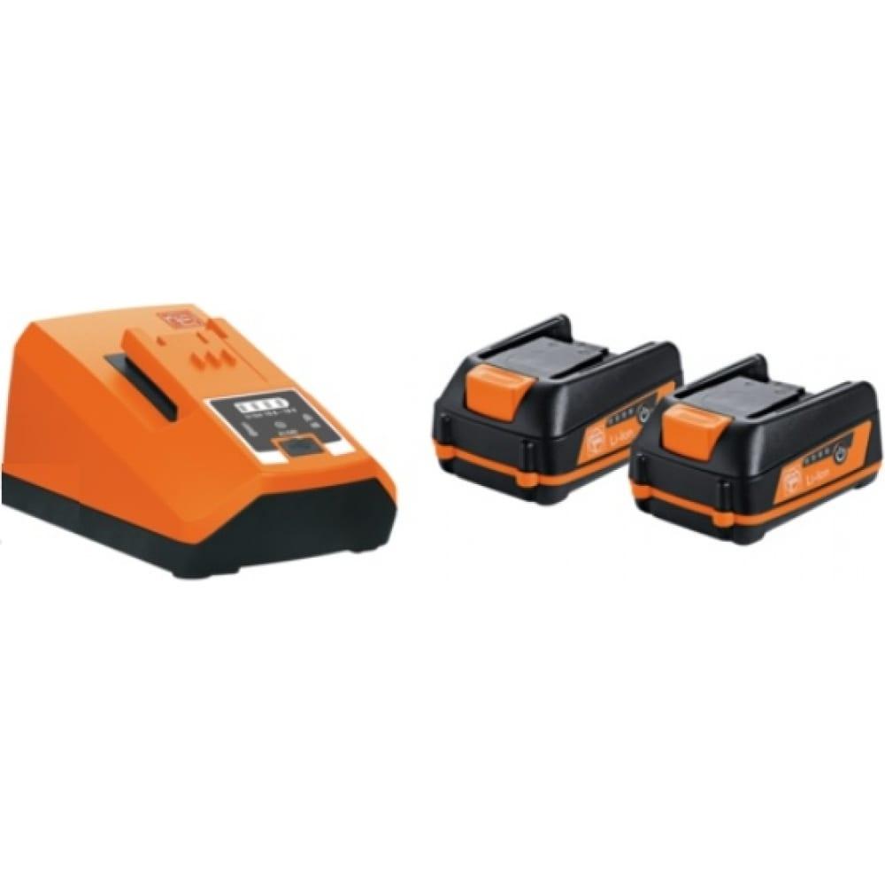 Купить Комплект аккумуляторов (2 шт; 18v; 3.0ah) с зарядным устройством fein 92604315010
