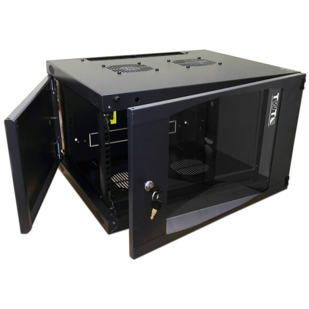 Настенный шкаф twt next, 15u, 550x450, стеклянная дверь, черный cbwng-15u-6x4-bk
