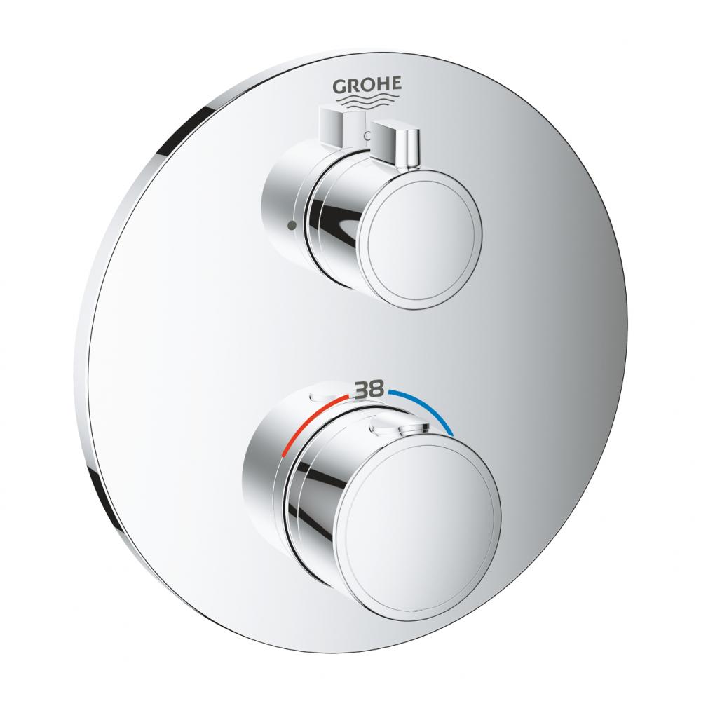 Термостат для душа grohe grohtherm круглая розетка, комплект верхней монтажной части 24075000