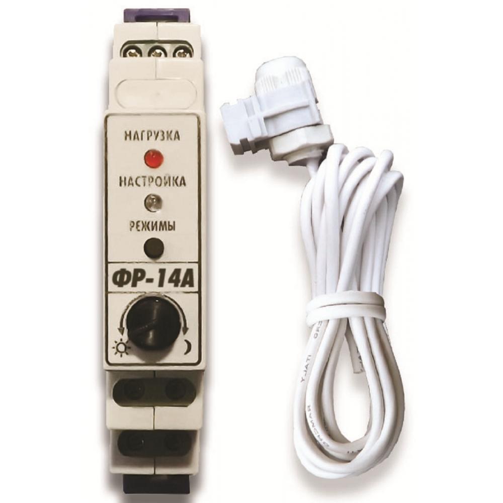 Купить Цифровое фотореле нтк электроника фр-14а, контактное 16а/ip40, гермосенсор 2 метра, на дин-рейку, 4627082402117