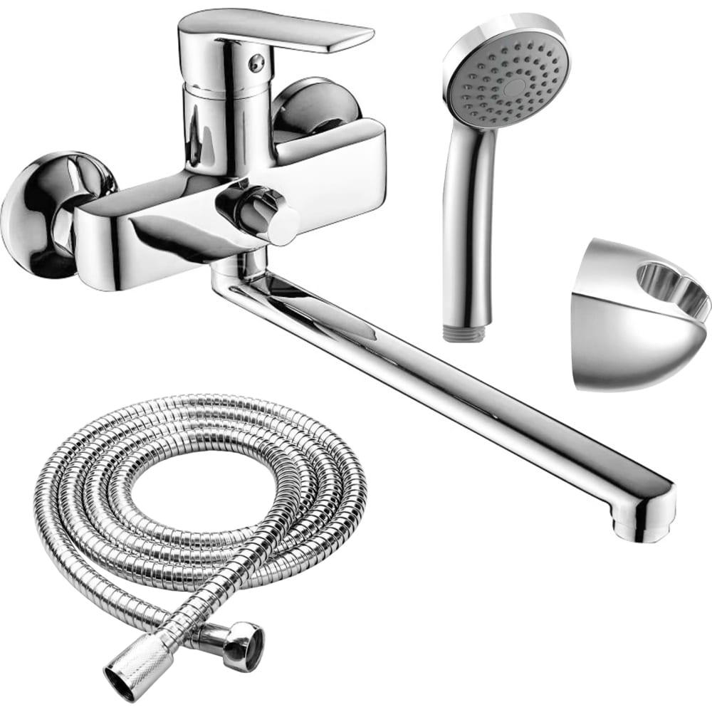 Купить Смеситель для ванны rush balearic с длинным, поворотным изливом, хром ba3935-51