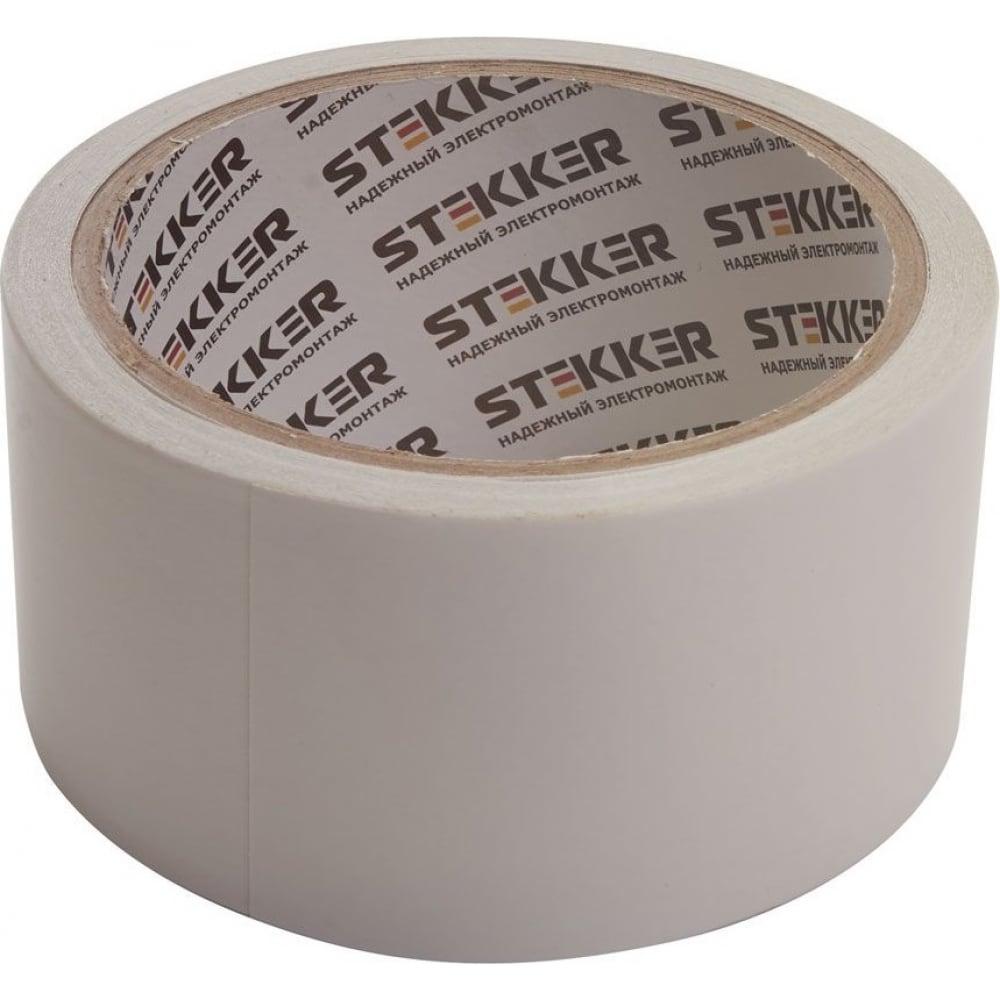 Купить Двусторонняя клейкая лента на полипропиленовой основе stekker 48мм х 10м, прозрачный 39147