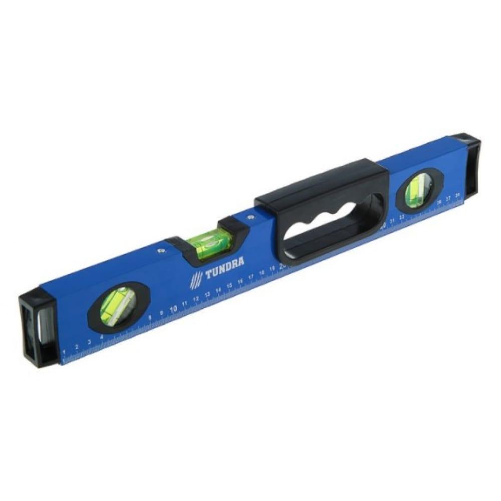 Купить Алюминиевый уровень tundra магнитный эргономичная ручка, 3 глазка, 400 мм 2964631
