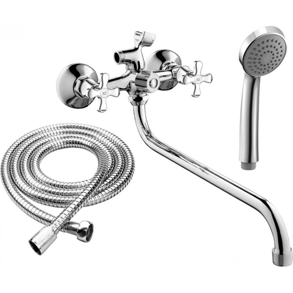 Купить Двуручный смеситель для ванны rush sakhalin с поворотным изливом, хром sa5350-51