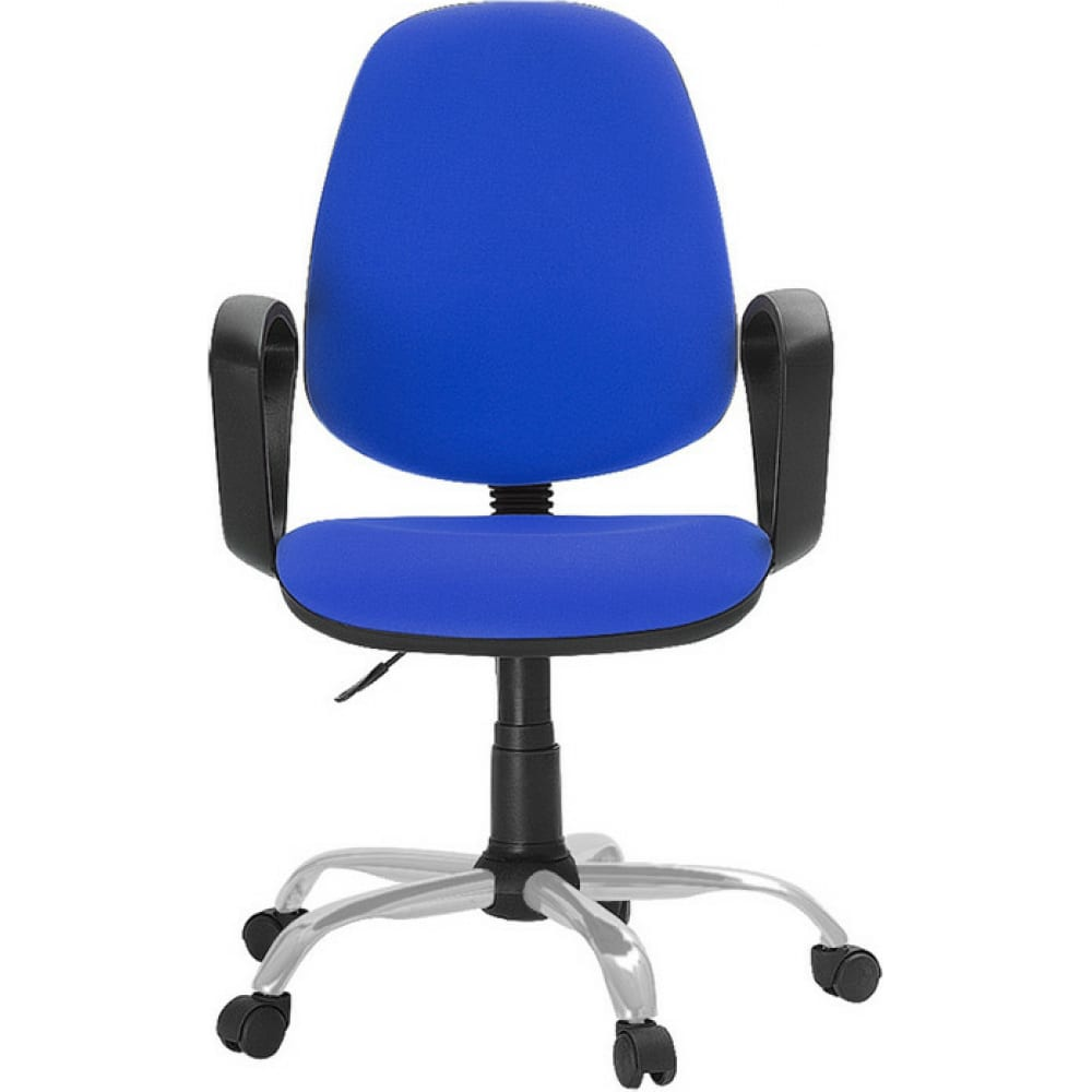 Купить Кресло easy chair faechair-222 pc ткань синяя тк9, silver, 622256