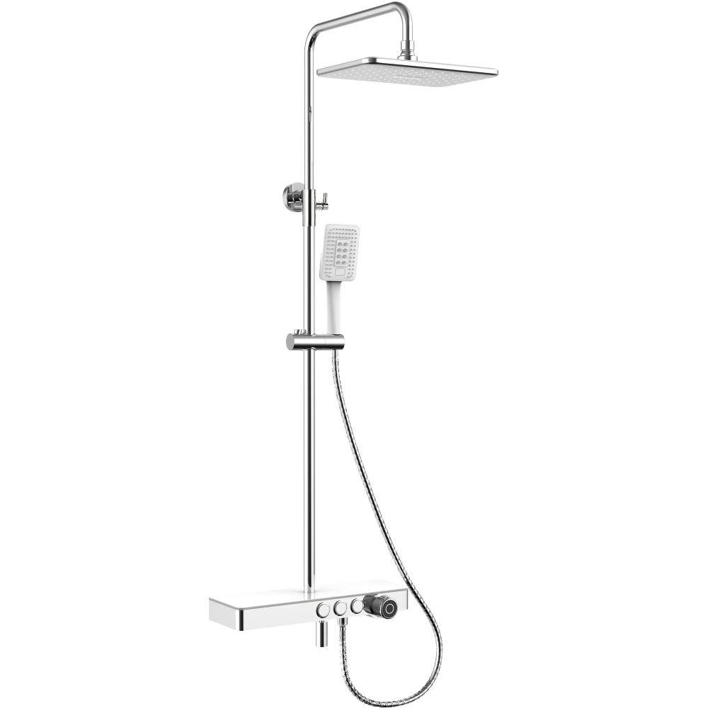 Купить Тропическая душевая система со смесителем для ванны и полкой rush pl5535-60