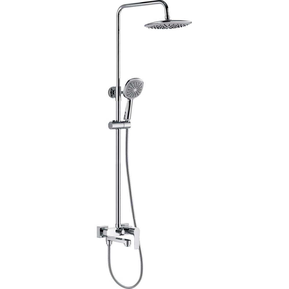 Купить Тропическая душевая система со смесителем для ванны rush с поворотным изливом, хром st4235-40
