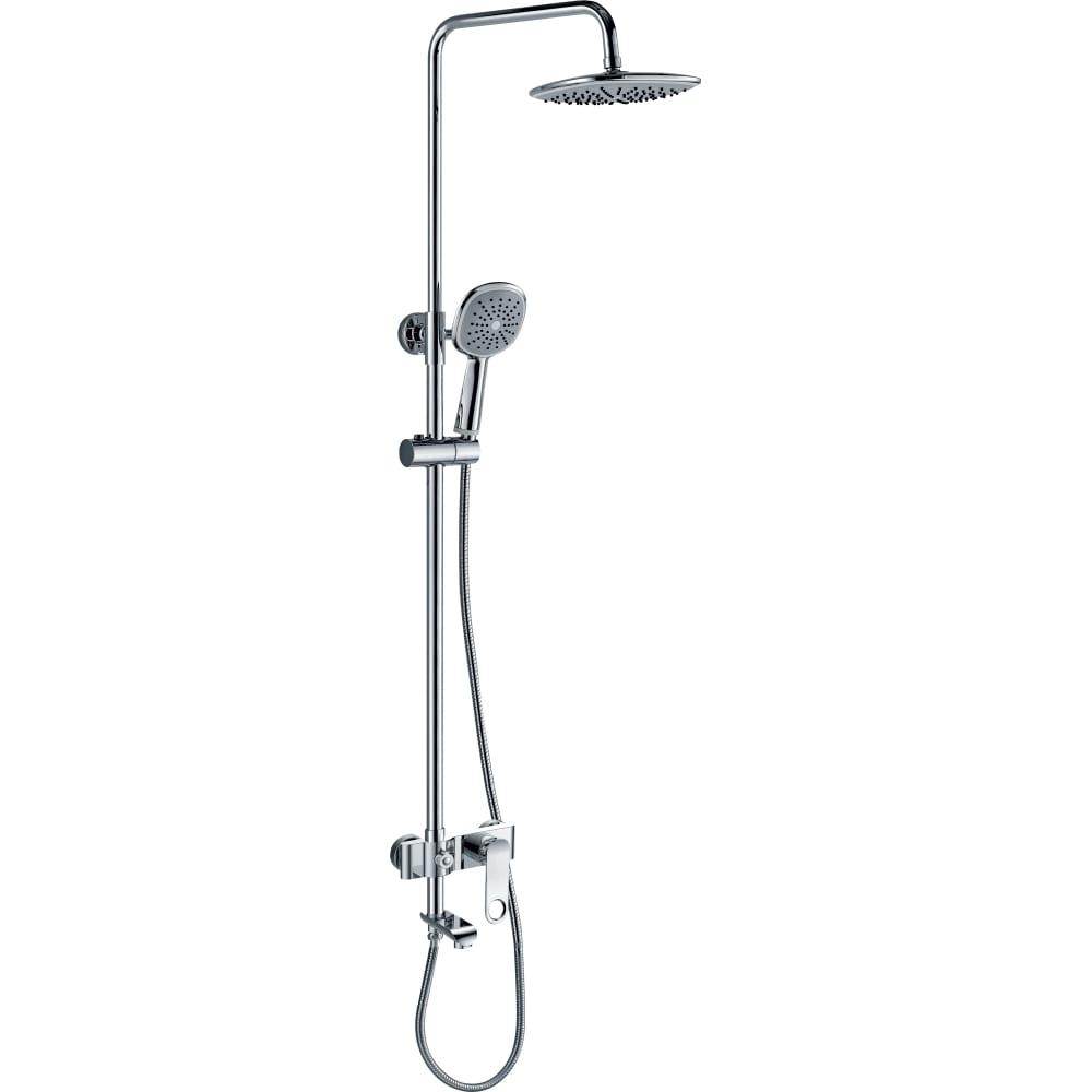 Купить Тропическая душевая система со смесителем для ванны rush с поворотным изливом, хром st4235-20
