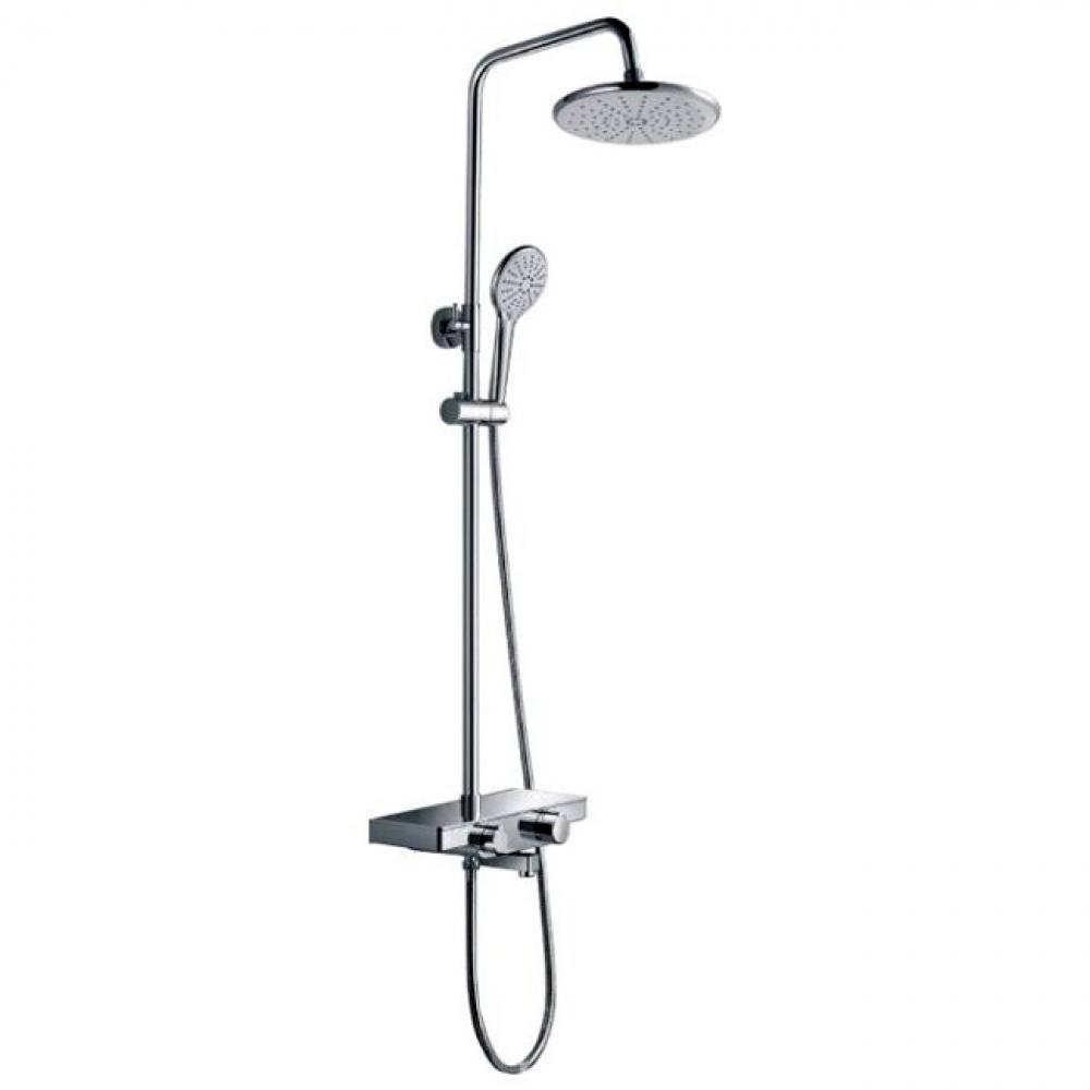 Купить Тропическая душевая система со смесителем для ванны rush фиксированный излив, хром st4235-50