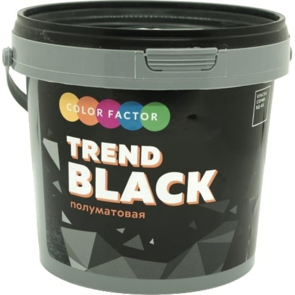 Купить Краска фабрика цвета износостойкая черная полуматовая eu black 0, 9 кг тд000004118