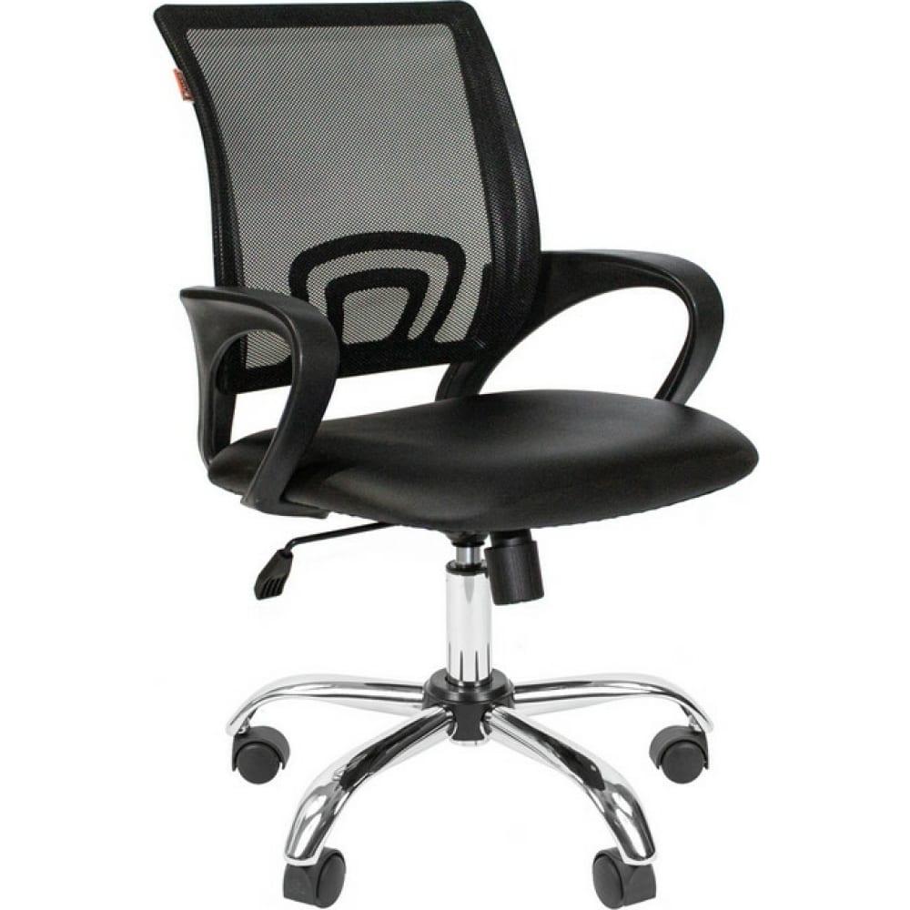 Купить Кресло easy chair vtechair-304 tpu кожзам черный/сетка черный, хром 1216342