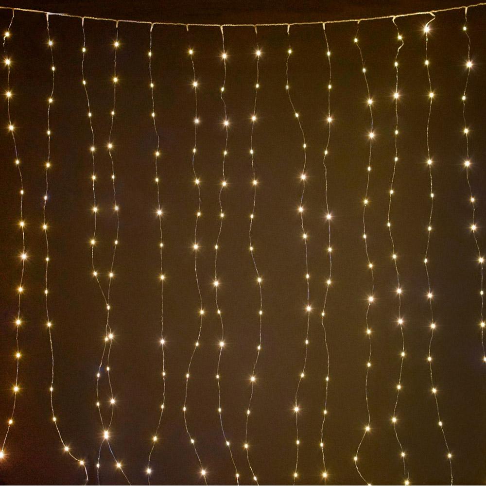Купить Светодиодный занавес shlights 400 минисветодиодов 2, 2х2, 2 метра, теплый белый clldm400-ww-4, 5v