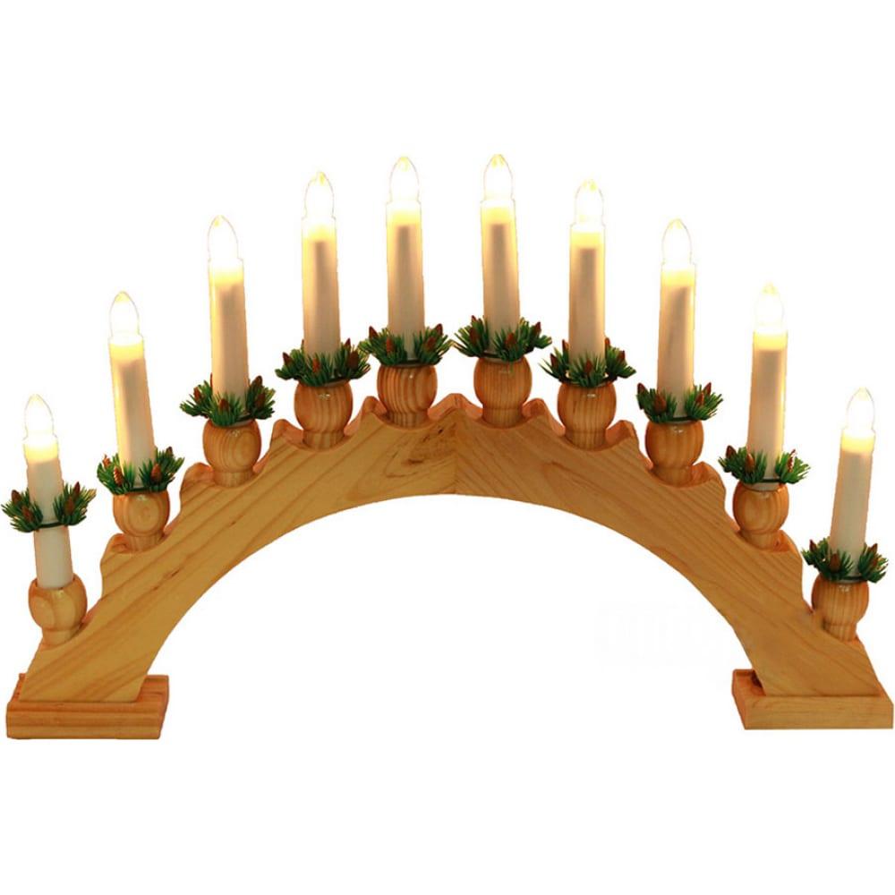 Гирлянда горка shlights свечи 40х30см на деревянной