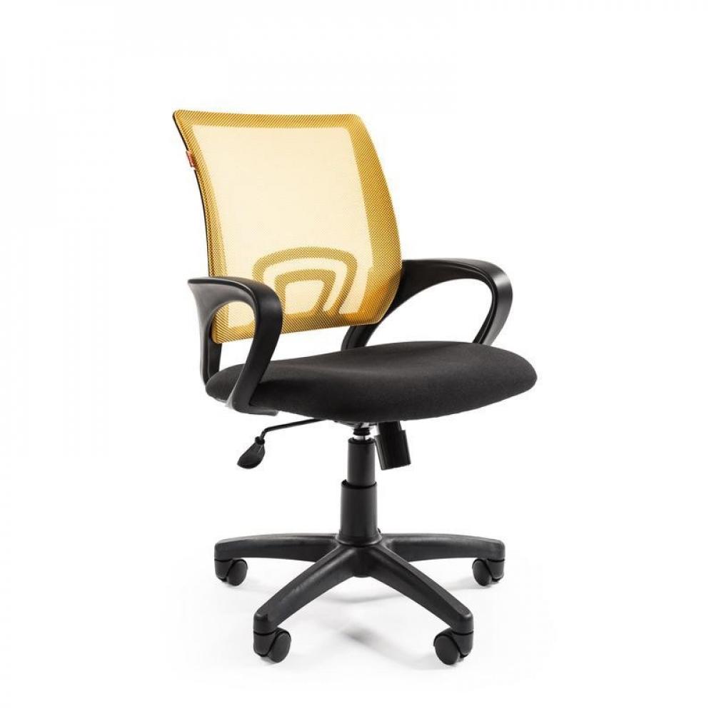 Кресло easy chair vtechair-304 tc net ткань черная/сетка желтая, пластик 737547  - купить со скидкой