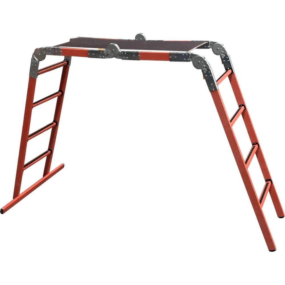 Стеклопластиковая лестница-трансформер (лестница-стремянка-подмость) диэлектрик лсптд-1,5 п д267886