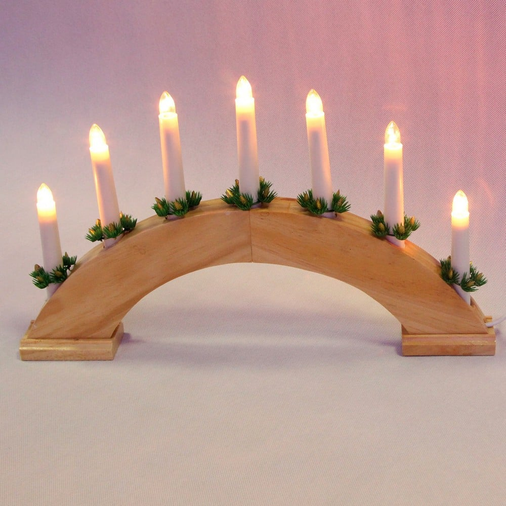 Гирлянда горка свечи shlights 40х28,5см 7 ламп