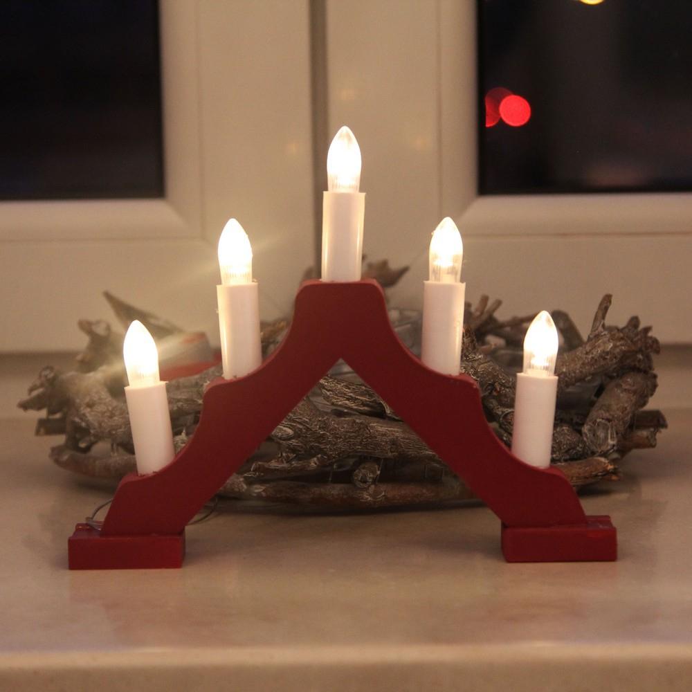 Гирлянда горка свечи shlights 20,5х17см на красной