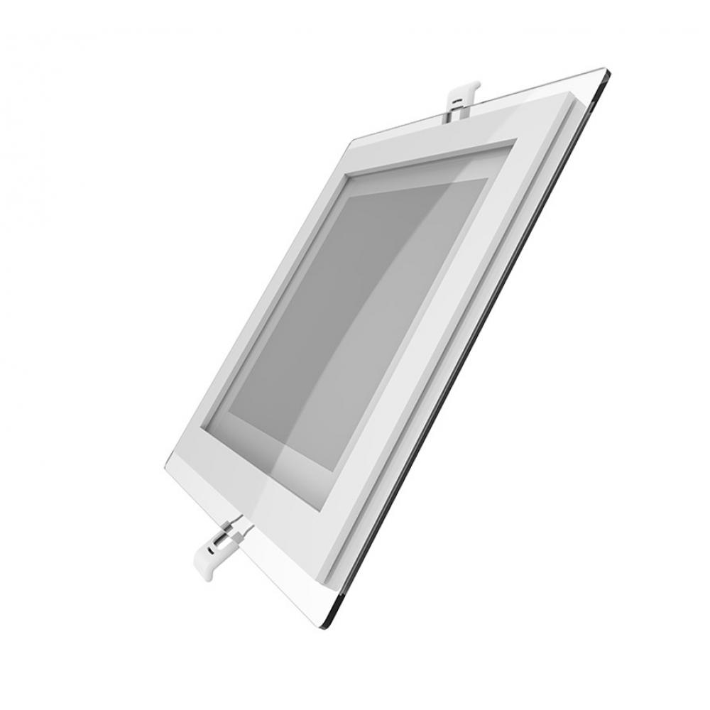 Купить Светодиодный встраиваемый светильник gauss квадратный с декоративным стеклом, 18w 4000k 948111218