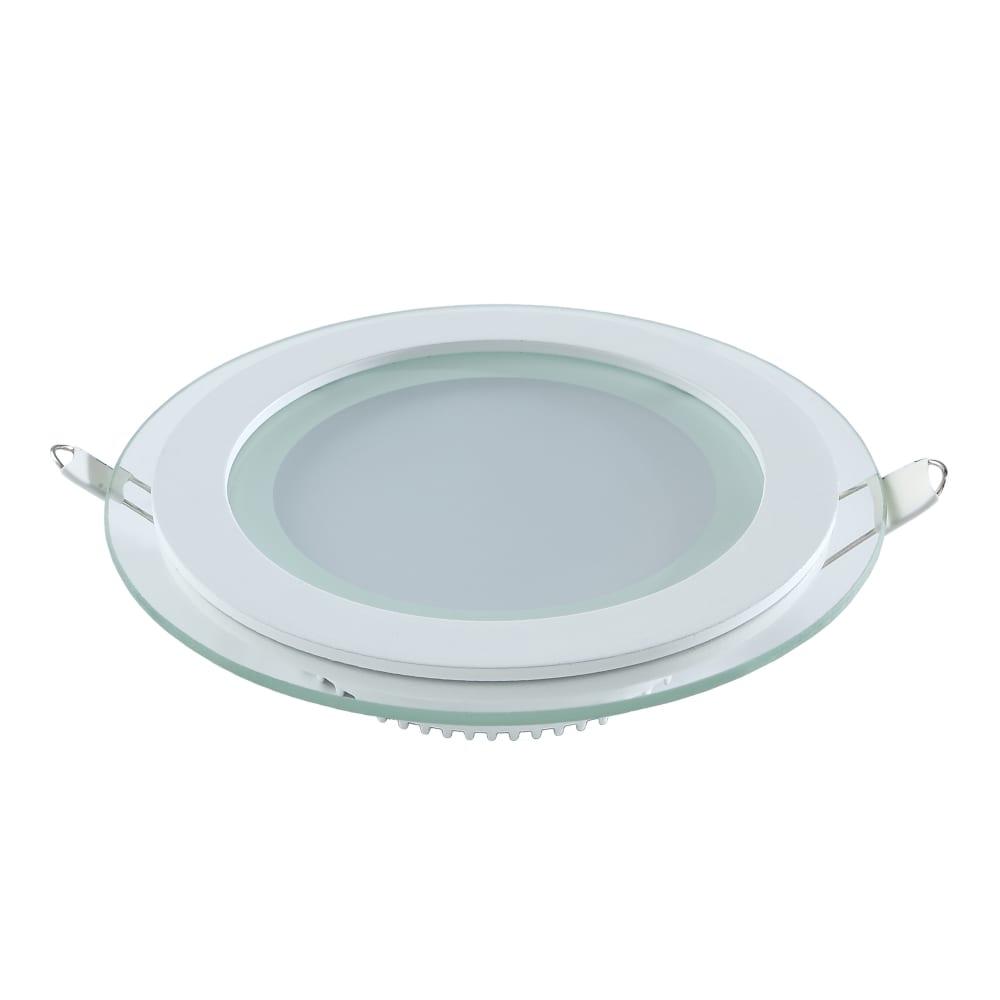 Купить Светодиодный встраиваемый светильник gauss круглый с декоративным стеклом, 12w 4000k 947111212