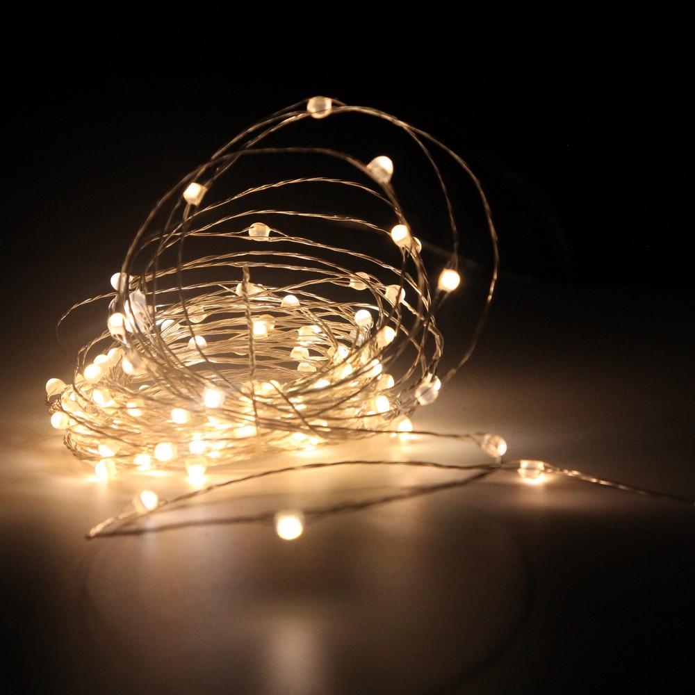 Гирлянда нить shlights 12 метров 120 ультраярких мини-светодиодов, теплый белый ldms120-cww  - купить со скидкой