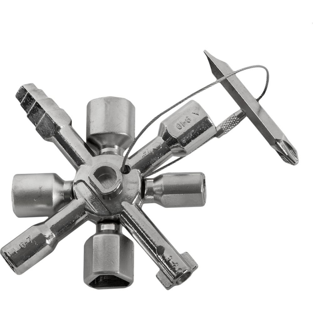 Универсальный ключ для электрошкафов кобальт 10 профилей 792-926