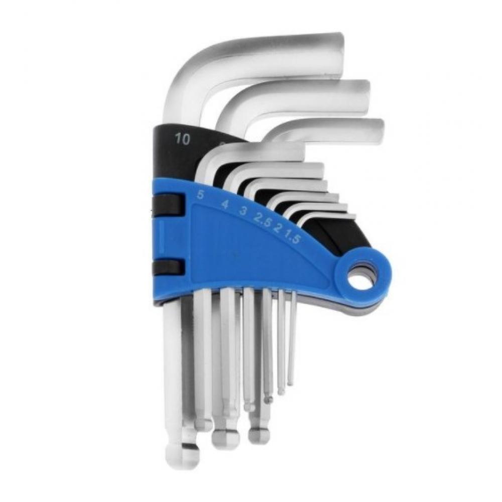 Купить Набор шестигранных ключей tundra с шаром, crv, 1.5 - 10 мм, 9 шт. 2354393