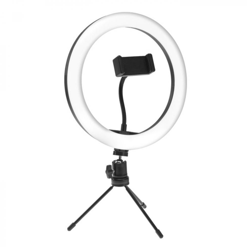 Купить Светодиодная лампа для селфи luazon ck-75, 26 см, 20 вт, штатив 15 см, 3 режима, 4791047