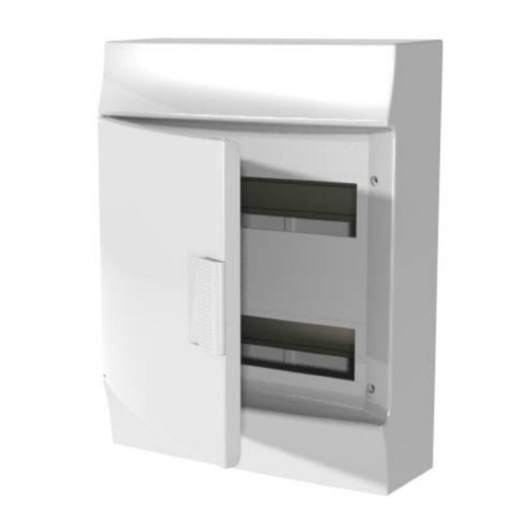 Навесной распределительный щит abb щрн-п mistral41, 24м, пластиковый, непрозрачная дверь с клеммами 1spe007717f9973