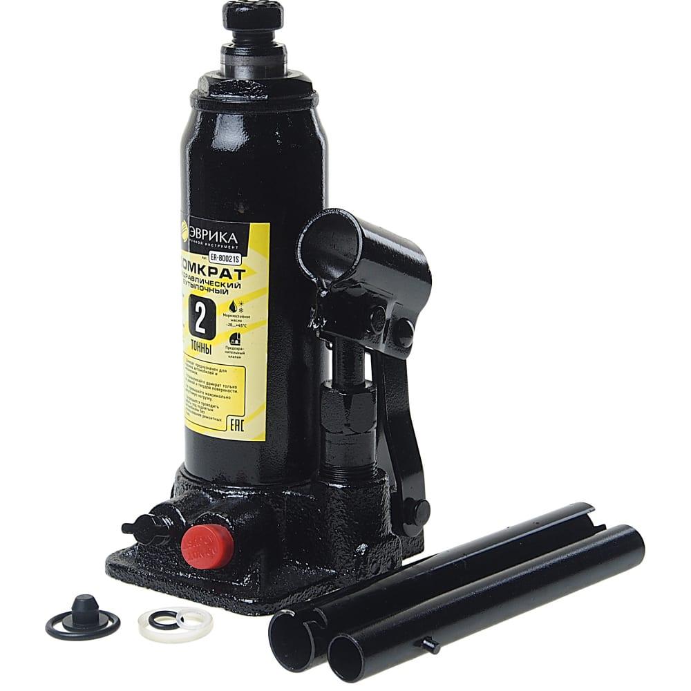 Купить Гидравлический бутылочный домкрат в кейсе эврика с клапаном, 2 т, ремкомплект er-80021s
