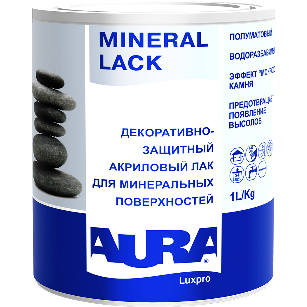 Лак aura mineral lack 1л l0015