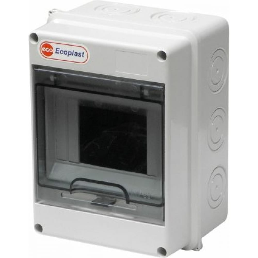 Шкаф открытой установки экопласт на 5-6 автоматов 160х120х90мм ip65 46406