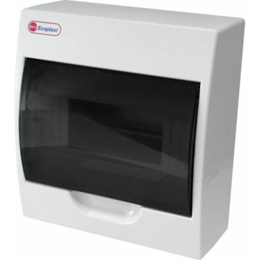 Шкаф открытой установки на 8 автоматов экопласт 200х185х95мм ip40 46108