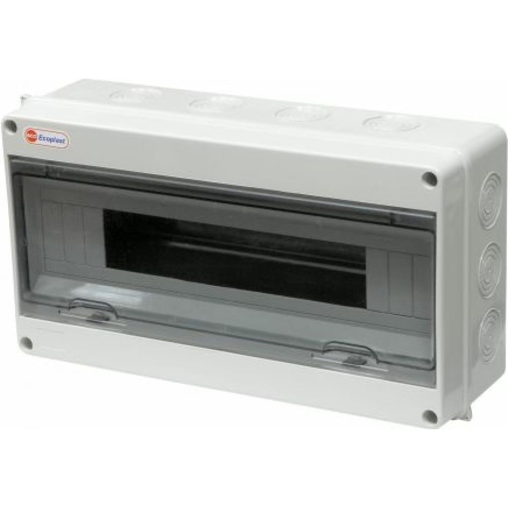 Шкаф открытой установки на 18 автоматов экопласт 198х365х108мм ip65 46418