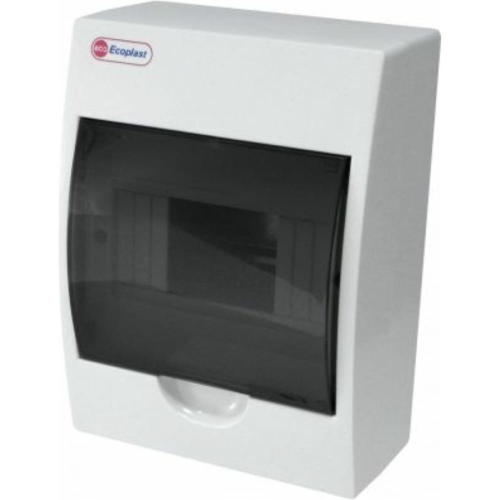 Шкаф открытой установки на 6 автоматов экопласт 200х148х95мм ip40 46106