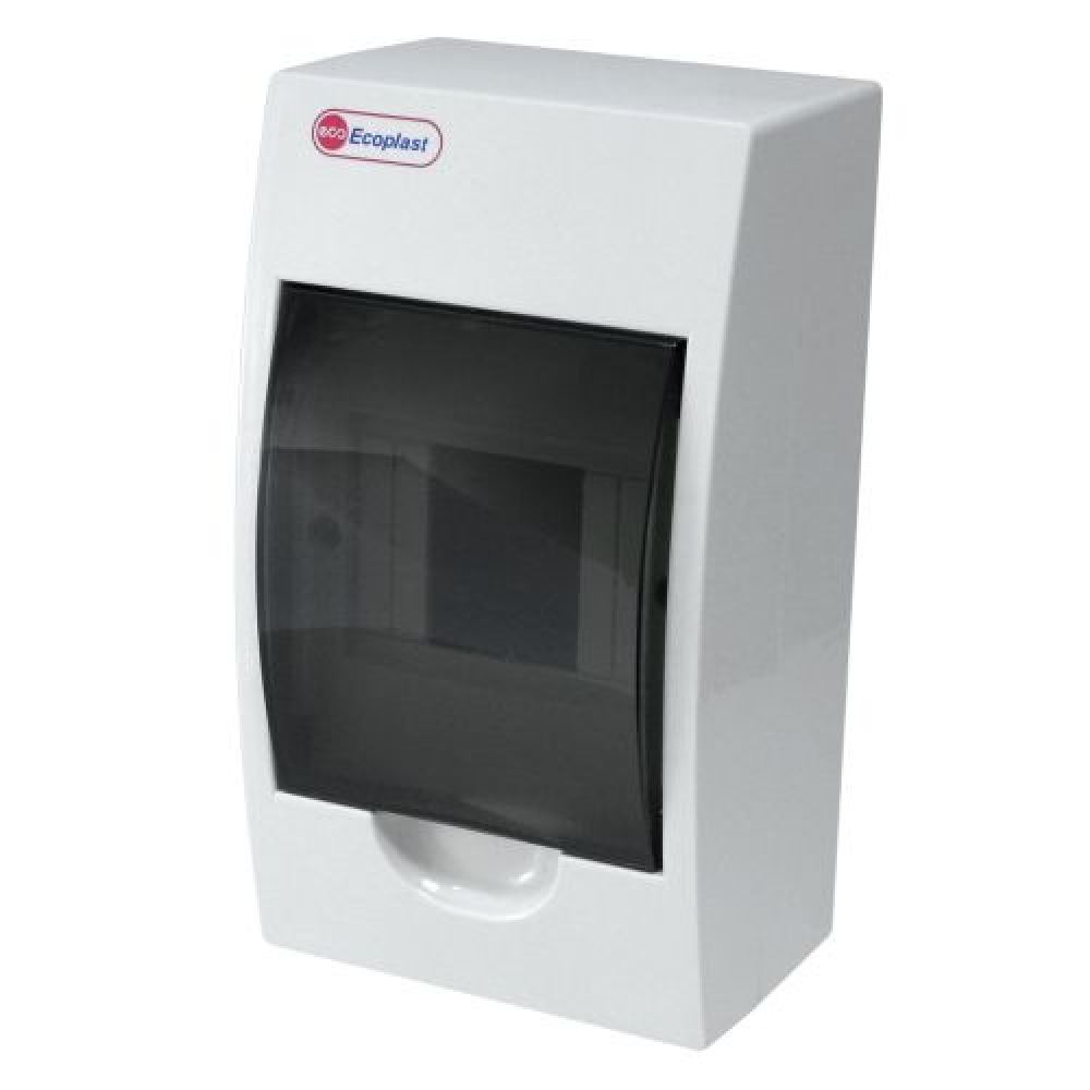 Шкаф открытой установки на 4 автомата экопласт 200х113х95мм ip40 46104