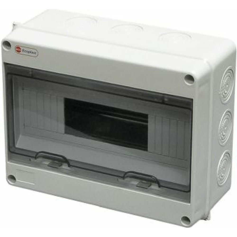 Шкаф открытой установки на 12-13 автоматов экопласт 197х253х108мм ip65 46412