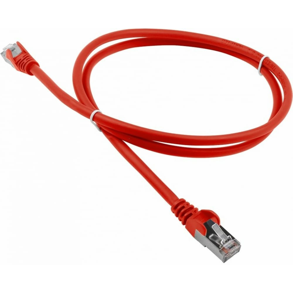 Патч-корд lanmaster rj45 - rj45, 4 пары, s/ftp, категория 6a, 1.5 м, красный lan-pc45/s6a-1.5-rd