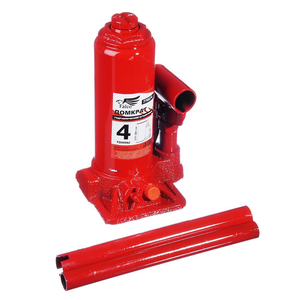 Купить Гидравлический бутылочный домкрат в кейсе falco 4 т, 195-380 мм 770-074