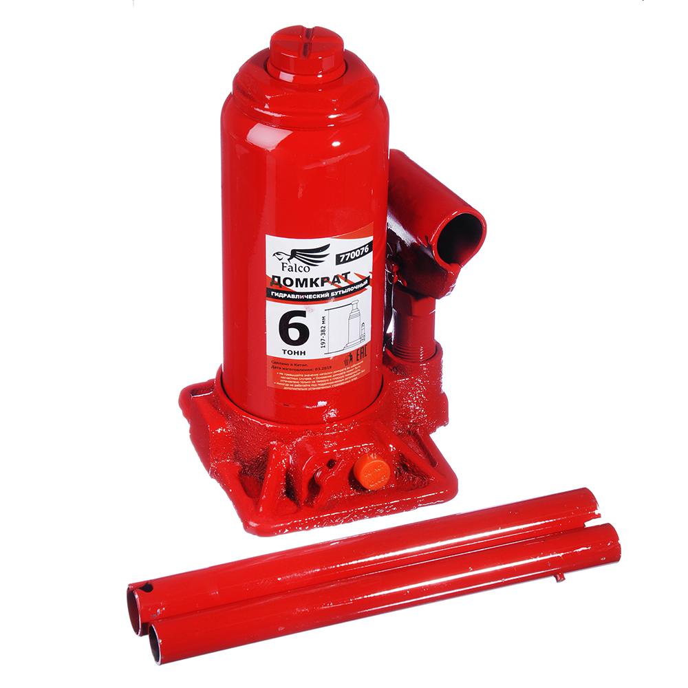 Купить Гидравлический бутылочный домкрат в кейсе falco 6 т, 197-382 мм 770-076