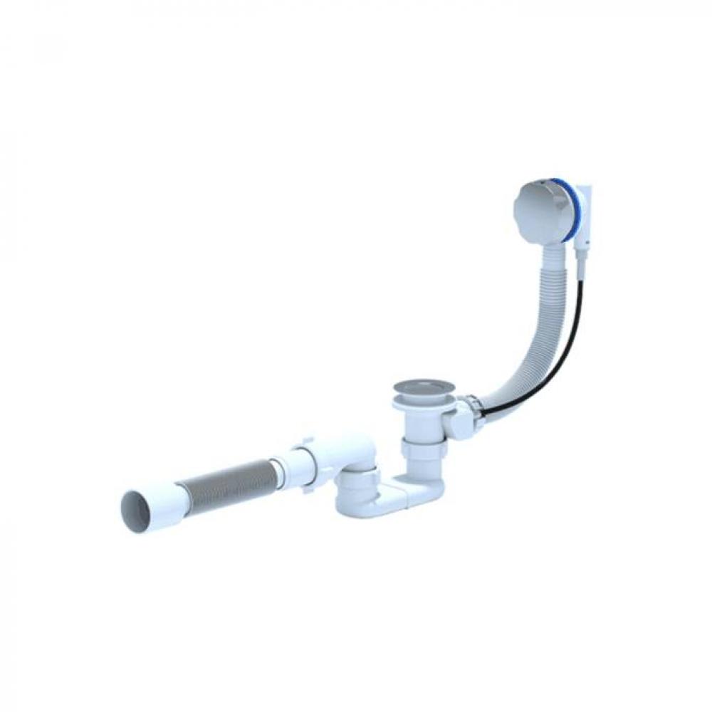 Сифон для ванны ани пласт плоский, полуавтомат,