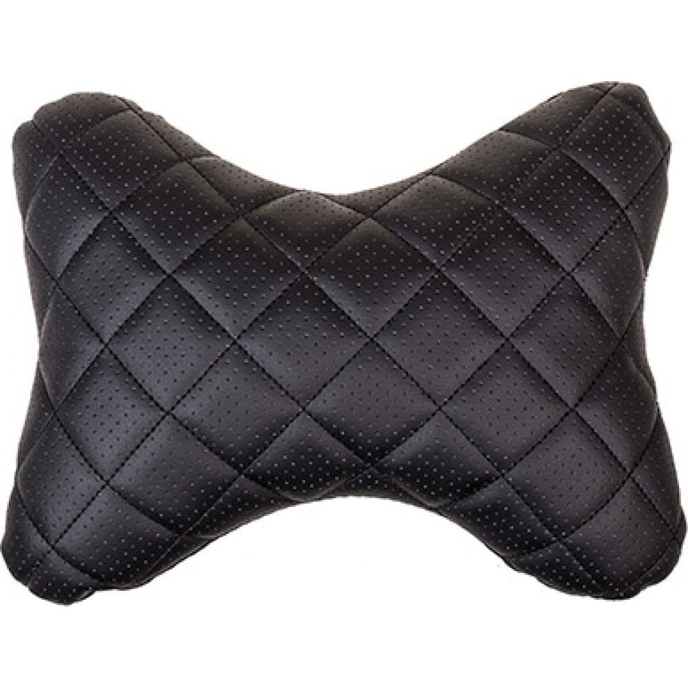 Купить Подушка на подголовник skyway перфорированная искусственная кожа, черная строчка s08001006